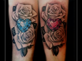 love liefde familie family kristal diamant rozen roos bloemen onderarm