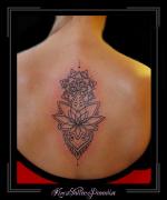 mandala rug lotus bloemen