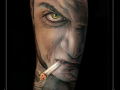 man,sigaret,dreigend,bizar,onderarm,