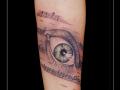 oog muzieknoten onderarm