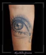 oog ogen traan onderarm