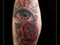 oog,ogen,stralen,roos,rozen,bloemen,bovenarm,