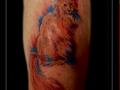 poes kat dier watercolor trash bovenarm