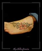 pootafdruk bloemen voet
