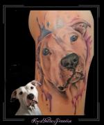 portret hond watercolor bovenarm1