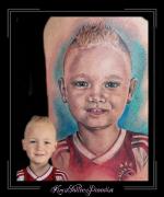 portret zoon jongen 4 jaar bovenarm