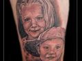 portret,broer,zus,bovenbeen,