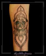 portret,hond,flip,onderarm,mandala1,