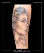 portret,vrouw,onderarm,