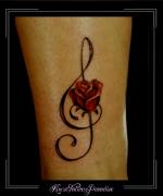 roos,bloemen,rozen,muzieksleutel,enkel,