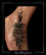 roos,rozen.blad,blaadjes,voet