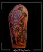 rozen,bloemen,klok,bovenarm,