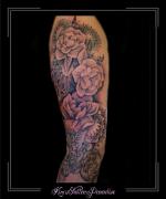 sleeve bloemen rozen mandala bovenarm