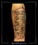 tempel,japans,chinees,onderarm,