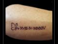 vlinder datum romeinse cijfers onderarm