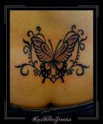 vlinder onderrug