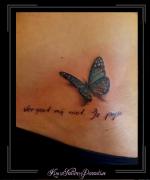 vlinder tekst heup