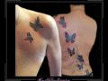 vlinders rug en borst