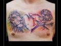 watercolor leeuw boogschutter sterrenbeelden boog pijl uur hart borst