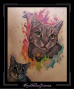 watercolor poes portret schouder