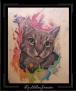 watercolor poes portret schouder1