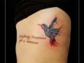 watercolor vogel tekt zij