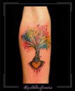 watercolor,boom,hartje,onderarm,