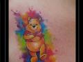 winnie de pooh beer watercolor borst
