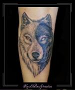 wolf yin yang onderarm