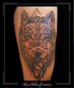 wolf,hert,mandala,bovenbeen,