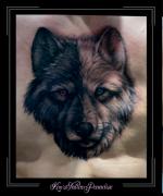 yin yang,wolf,hond,huskey,borst,