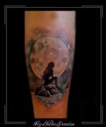 zeemeermin,maan,rots,zee,water,sterren,onderarm,
