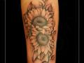zonnebloemen,bloemen,onderarm,