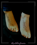 zussentattoo voet