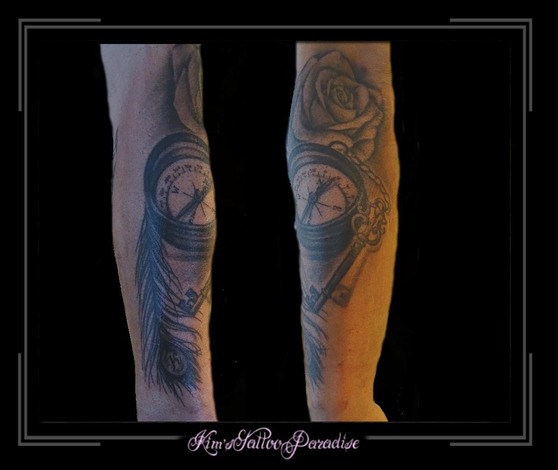 Tattoo dreamcatcher dromenvanger onderarm veer - Veer Kim S Tattoo Paradise