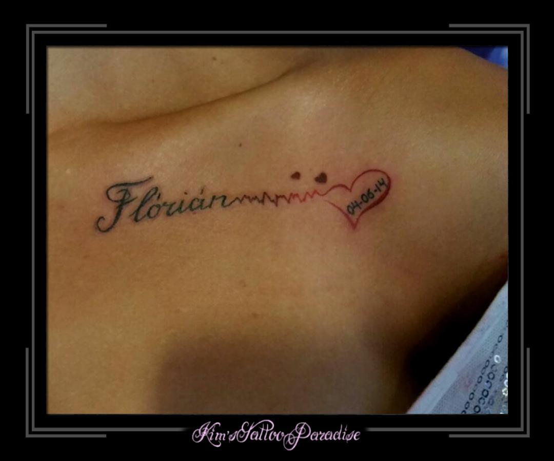 datum hartslag tattoo