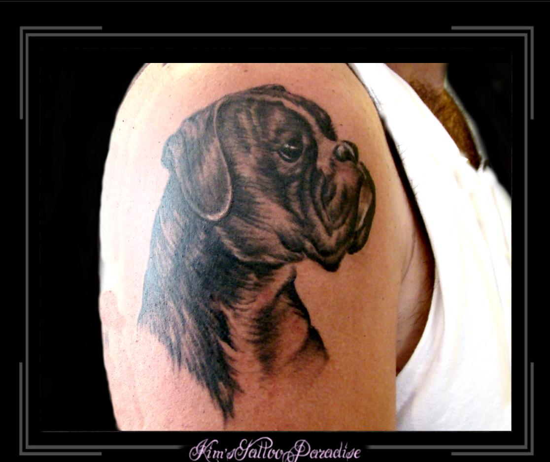 Boxer Dog Tattoos