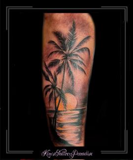 palmboom,zonsondergang,onderarm,