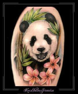 pandabeerbovenarmkleurportret