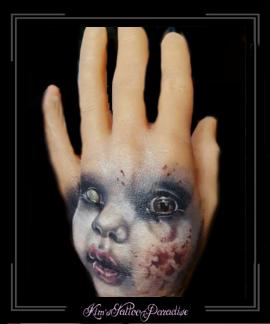 pop portret gezicht hand