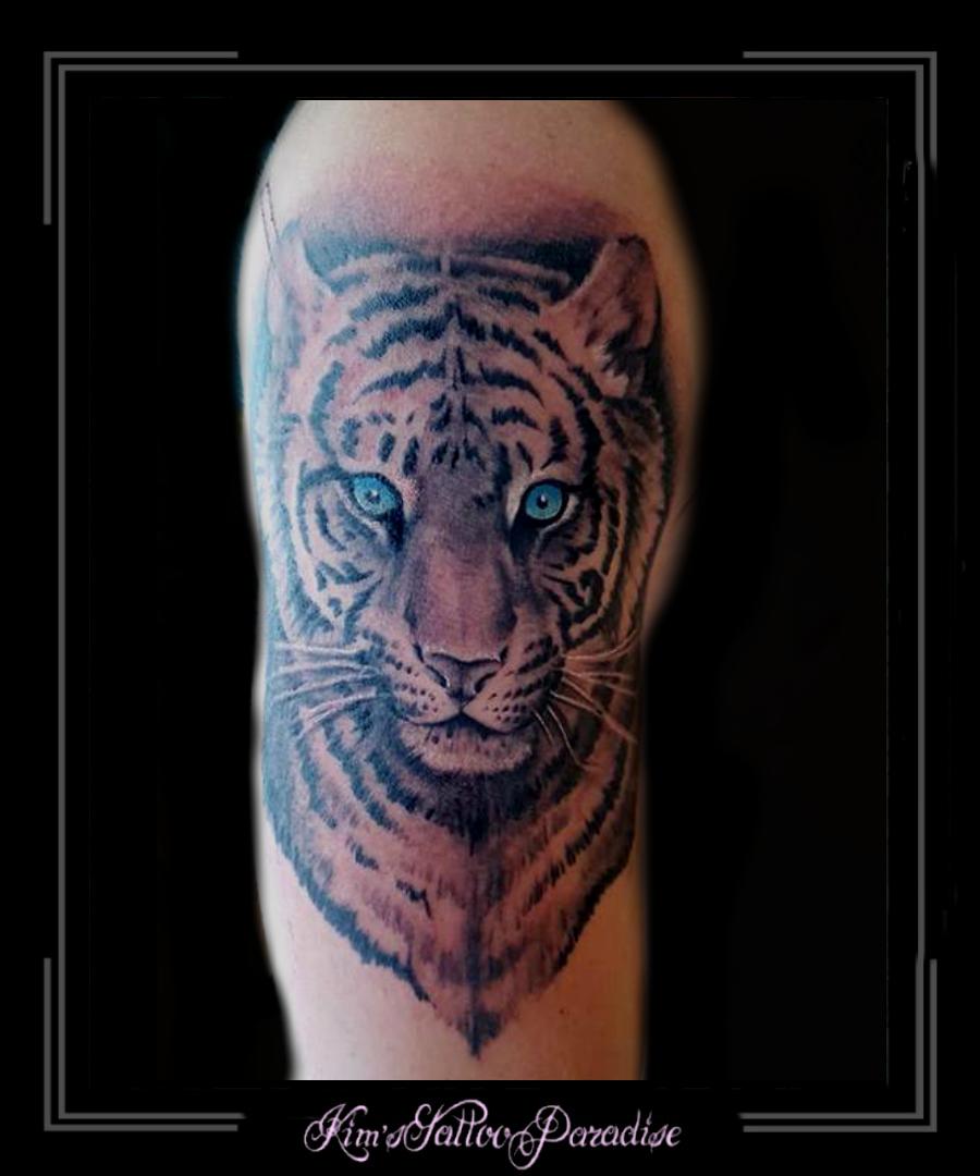 Tijger Bovenarm Kims Tattoo Paradise