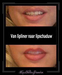 permanente makeup lip schaduw