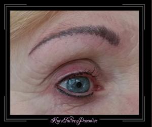 wenkbrauw en eyeliner